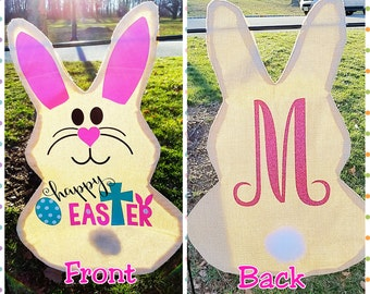 Easter Garden Flag, Bunny Flag, Easter Decor, Front Yard Flag, House flag, Easter Bunny Decor, Easter Decorations, Bunny Decorations