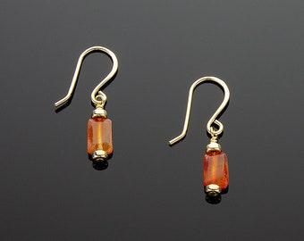 Handmade Gold and Carnelian Earrings
