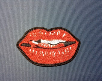 Iron on Sew on Patch:  Lovely Lips