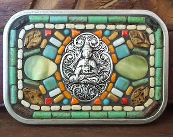 Buddha Mosaic Belt Buckle