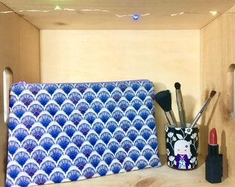 KOI print fabric pouch
