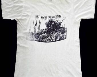 VINTAGE 80s MDC M.D.C MILLION of dead cops punk rock hardcore tour t shirt