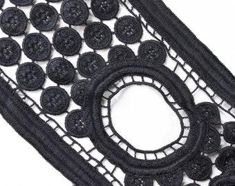 Black 12cm lace trim
