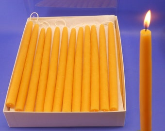 """Bees Wax Candles, 50 Pair of 5/8"""" x 10"""" Bees Wax Tapers, 100 Beeswax Candles, Bulk Beeswax Candles, Bulk Taper Candles, Home Decor Lighting"""