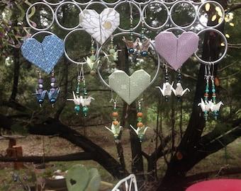 Peace Crane Microgami Earrings