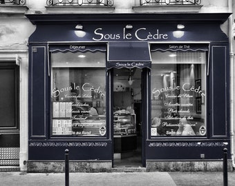 Sous le Cèdre - Window Shopping - Restaurant - Store Front - Paris - France - Photo - Print