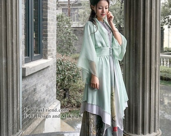Qi Lolita Flowing Sleeves Irregular Length Gown