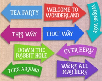 Alice in wonderland party printables alice in wonderland decorations Instant download alice in wonderland decor alice in wonderland party