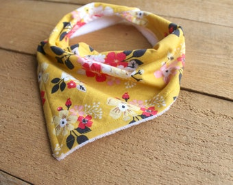 Floral Bandana Bib / Bibdana / Drool Bib for Baby Girl