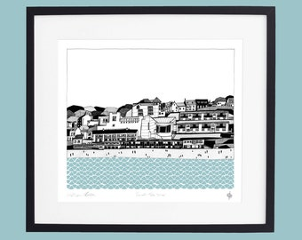 Cornwall - St. Ives Limited Edition Screen Print