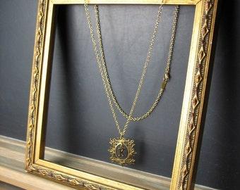 Framed Letter Necklace