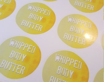 "Set of 4 Labels ""Whipped Body Butter"""