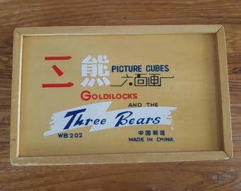 Picture cubes Gold and the three bears