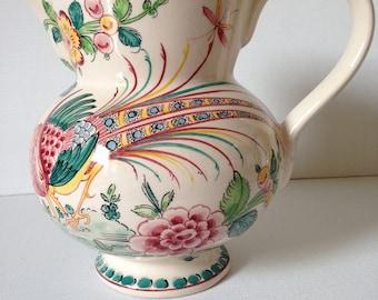 Jug Vase, Pitcher Vase, Anfora, Portuguese Pottery, Decorative Pottery Vase, Cottage Decor, Country Home Decor, Made in Portugal, Vase