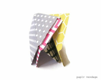 12  Mini Envelopes Spring Mix, Hot Pink Chevron, Grey Polka Dot, Black Netting & Yellow Honeycomb, Birthday Parties, Weddings, Special Note