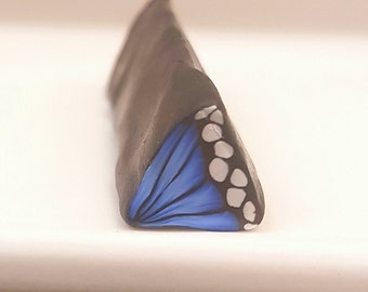 Blue Butterfly Wing Cane, Polymer Clay Flutterby Wing Cane, Raw or Unbaked  Clay, Ultramarine Blue