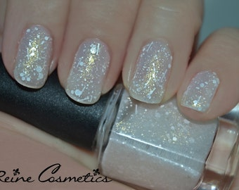 Let It Snow - Frosted White Glitter Nail Polish LIMITED EDITION