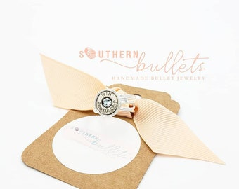 Southern Bullets .925 Sterling silver bullet jewelry ring. 45acp recycled bullet casing. Wincheter. Gifts for her. Guns