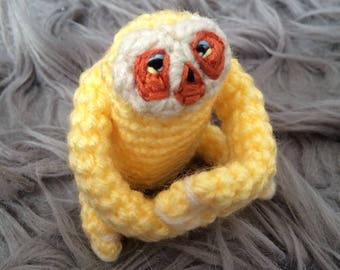 Mini Yellow Finger Sloth Amigurumi