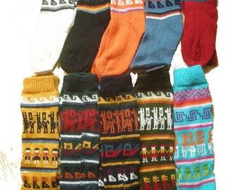 Fair Trade Fluffy Peruvian Alpaca Wool Funky Bright Socks (Mens or Womens) Size uk 4-9 181