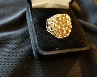 Oval 10k Gold Nugget Ring