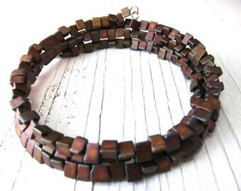 ZEN:  Japanese Seed Bead Bracelet, Memory Wire