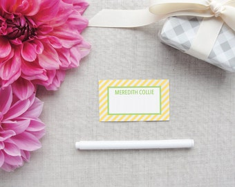 Personalized Enclosure Cards | Diagonal Stripe Pattern | Calling Cards | Gift Enclosures | Custom Colors | Gift for Her