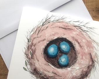 Nest blank notecards - Robin's Nest blank notecards