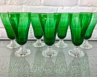 Anchor Hocking Forest Green Berwick/Inspiration Ice Tea or Water Glasses