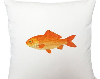 Cushions/ cushion cover/ scatter cushions/ throw cushions/ white cushion/ gold fish cushion cover