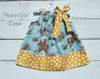 Girl Western Dress, Toddler Dress, Baby Shower Gift, Summer Outfit