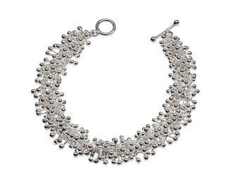 Sterling Silver Statement Bracelet - Minimalist Bracelet