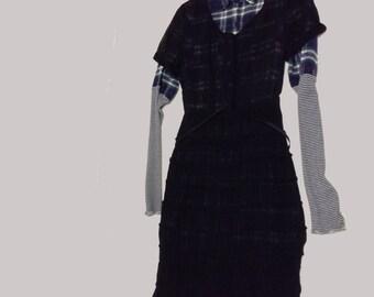 Vintage Sheer Black Dress