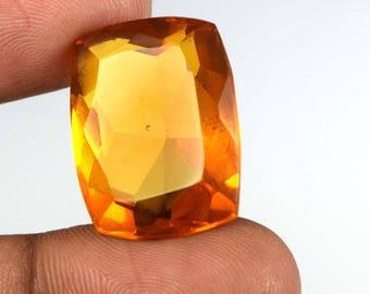 31.45 Ct. IGL Certified Cushion Brazilian Yellow Citrine Loose Gemstone Free Shipping