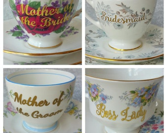 Upgrade -Add a customization/personalization to any Honey and Bumble Teacup / Vinyl Design/Decal Only- DOES NOT Include Teacup