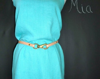 Strapless DRESS - Linen Mix - Pick your own Color - Made in ANY Size - Boutique Mia by CXV