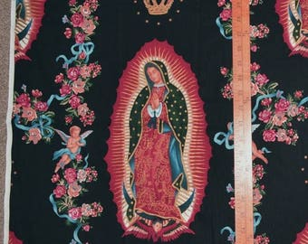 FABRIC Alexander Henry fabric folklorico Folk Art Virgin Mary quilt fabric applique novelty Virgin of Guadalupe Blessed Mother Mexico