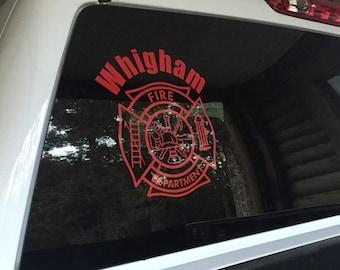 Firefighter Decal - Firefighter Car Decal - Firefighter - Vinyl Decal