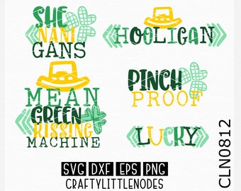 Bundle, St Patrick's Day Svg, St Patty Day Svg, St Patrick Svg, Saint Patrick Svg, Lucky Svg, Shamrock Svg, Cricut, Silhouette, Cutting File
