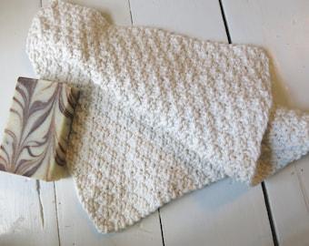 Hand Knit Cotton Washcloth