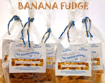 Banana Fudge - Handmade Fudge - Handmade Confectionery, Fudge, Made in Devon, Edible Gifts, Sweet Treats, Food Gifts, Sweets, Hamper Gifts