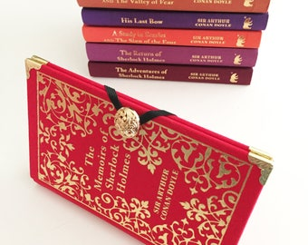 Sherlock Holmes Book Purse Wallet - Hound of the Baskervilles Literary Gift - Sherlock Book Cover Wallet - Wallet made from a book