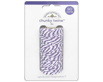 LILAC Chunky Baker's Twine - Cotton Twine - 20 yards - Favor Packaging - Doodlebug - Invitation supply
