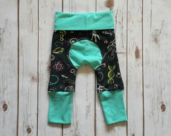 Miniloones Grow With Me Pants Science Space Baby Pant
