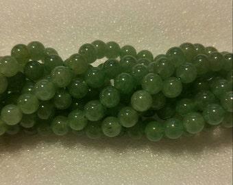 8mm Natural Green Aventurine beads   *40 beads