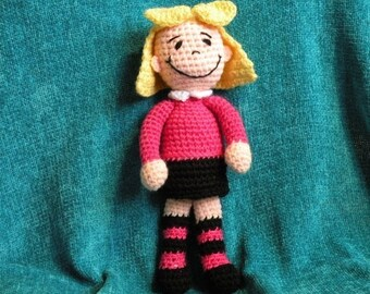 PDF - INSTANT DOWNLOAD - Emily Elizabeth and Clifford - amigurumi doll crochet patterns in English language.