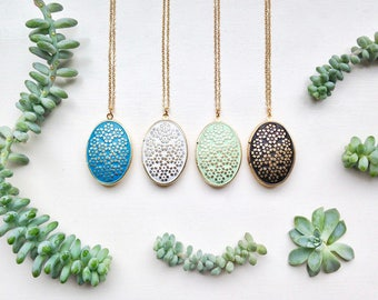 select your color, free choice patina medallion necklace floral Locket