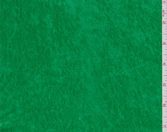 Spring Green Crushed Velour, Fabric By The Yard
