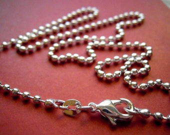 3 - Silver plated  16 inch 2mm Ball Chains FAST SHIPPING