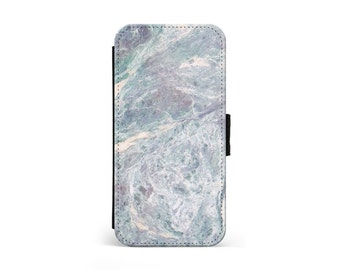 Rippled Blue Marble Wallet Flip Case, Marble Case, Marble Print, iPhone Case, Samsung Case, iPhone Cover, iPhone Wallet \ lf-pp095